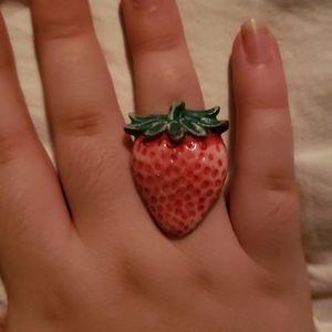 Y2k 90s Kawaii Harajuku Strawberry Ring